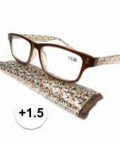 1 5 leesbrillen fantasy bruin