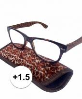 1 5 leesbrillen in panterprintje