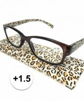 1 5 leesbrillen in tijgerprint
