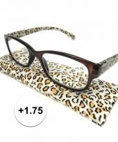 1 75 leesbrillen in tijgerprint
