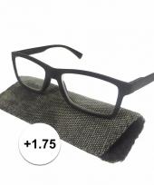 1 75 leesbrillen zwart met rondjes