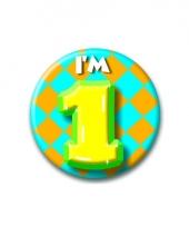 1 jaar button