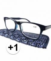 1 leesbrillen donkerblauw