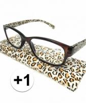 1 leesbrillen in tijgerprint