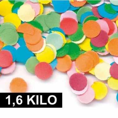 1,6 kilo zak feest snippers gekleurd