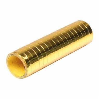 1 goudkleurige serpentinerol