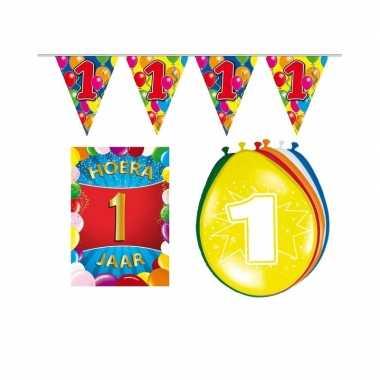 1 jarige/jaar feest versiering setje