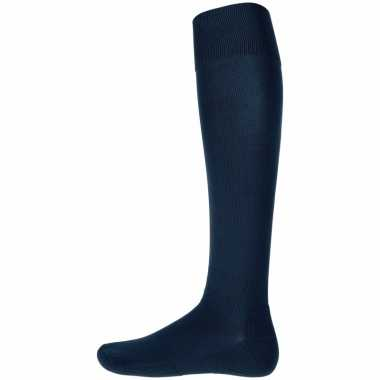 1 paar hoge sport sokken donkerblauw
