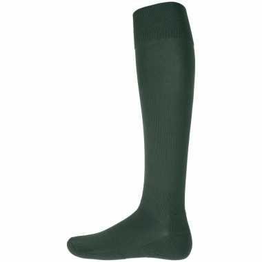 1 paar hoge sport sokken groen
