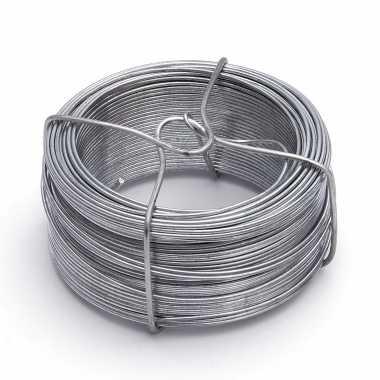 1 rolletje ijzerdraad / binddraad / binddraden staal verzinkt 1,8 mm x 50 m op rol