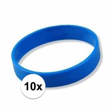 10 blauwe polsbandjes