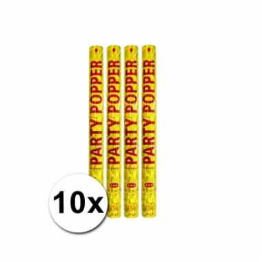 10 confetti poppers goud