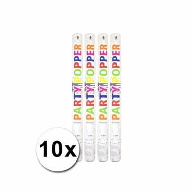 10 confetti poppers wit 57 cm
