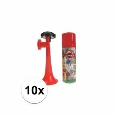 10 gas toeters 70 ml