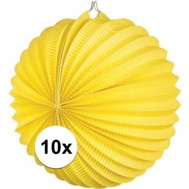 10 gele feest lampionnen papier