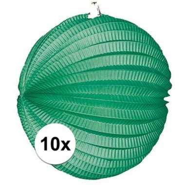 10 groene party lampionnen