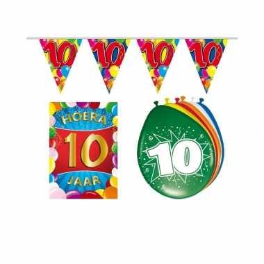 10 jarige/jaar feest versiering setje