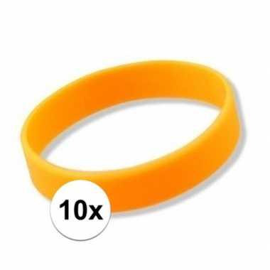 10 neon oranje armbandjes