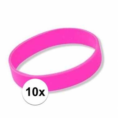 10 roze armbandjes