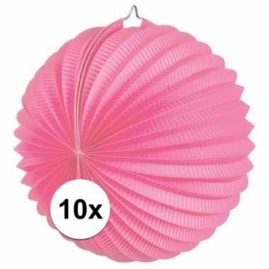 10 roze party lampionnen