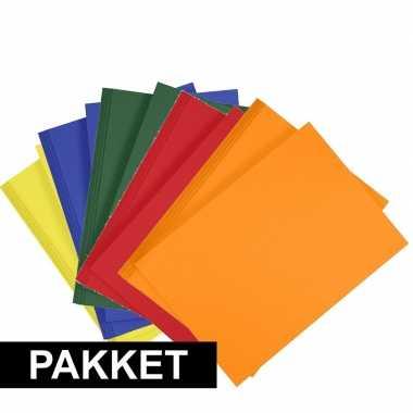 10 stuks a4 hobby karton in 5 kleuren geel/donkergroen/blauw/oranje/r