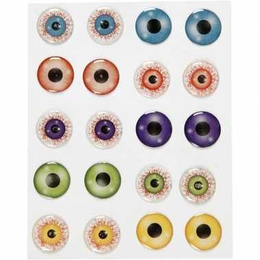10 stuks gekleurde 3d ogen stickers
