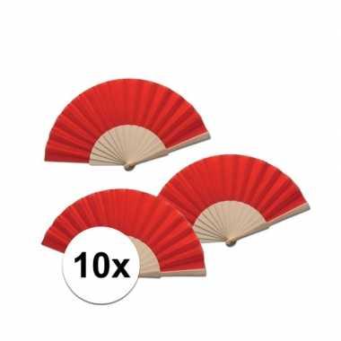 10 stuks spaanse waaier rood