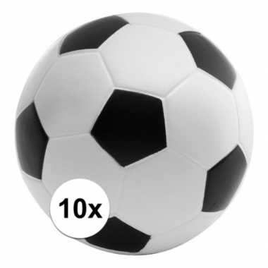 10 stuks stressballen voetbal 6,1 cm