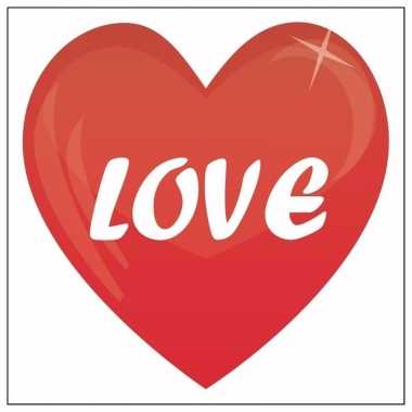 10 valentijn stickers love 10,5 cm