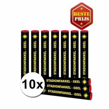 10 voordelige gele fakkels