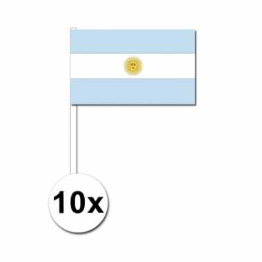 10 zwaaivlaggetjes argentijnse vlag