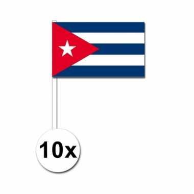 10 zwaaivlaggetjes cubaanse vlag