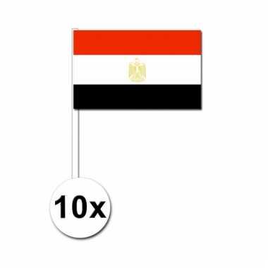 10 zwaaivlaggetjes egyptische vlag