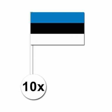 10 zwaaivlaggetjes estlandse vlag