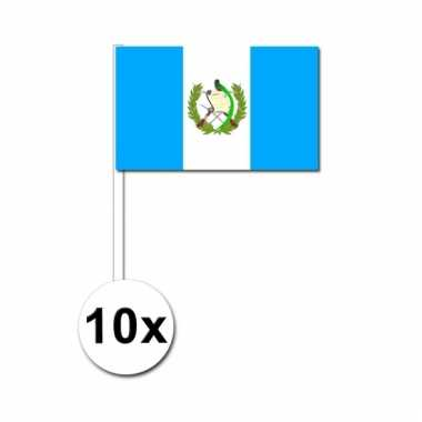 10 zwaaivlaggetjes guatemala vlag