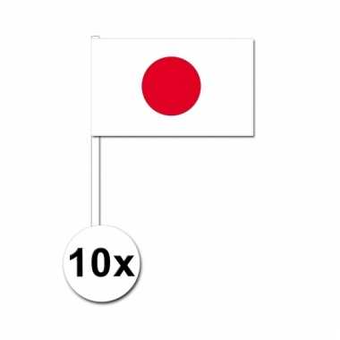 10 zwaaivlaggetjes japanse vlag