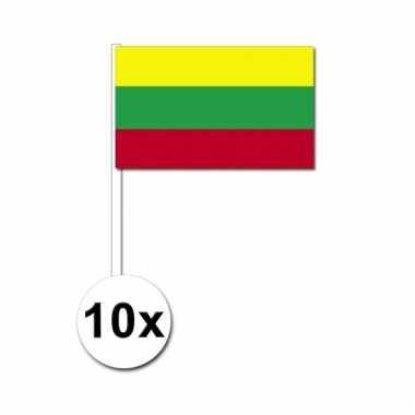 10 zwaaivlaggetjes litouwse vlag