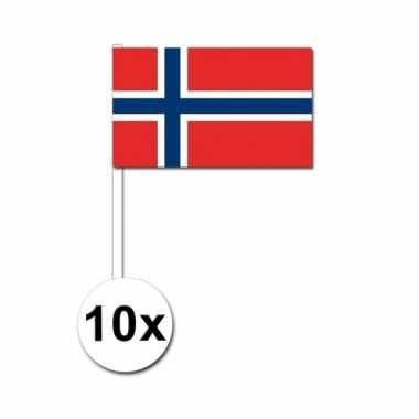 10 zwaaivlaggetjes noorweegse vlag