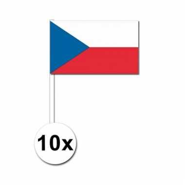 10 zwaaivlaggetjes tsjechische vlag