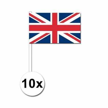 10 zwaaivlaggetjes union jack vlag