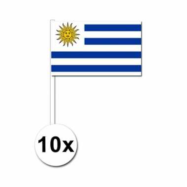 10 zwaaivlaggetjes uruguay vlag