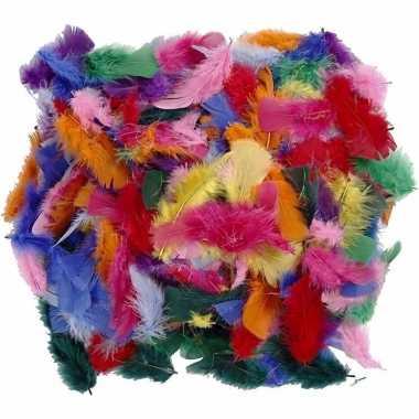 100 gram verschillende kleuren veren