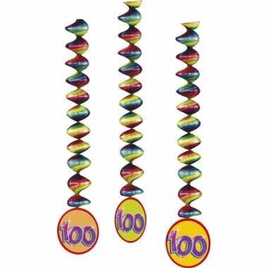 100 jaar rotorspiralen gekleurd 6x stuks