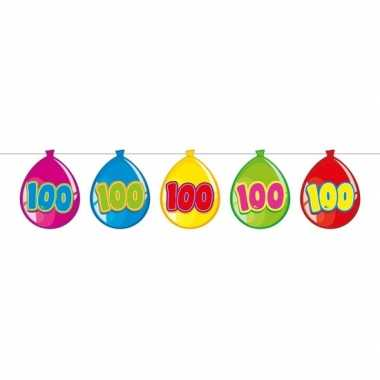 100 jaar slinger met kartonnen ballonnen 10 meter