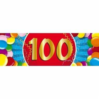 100 jaar versiering sticker