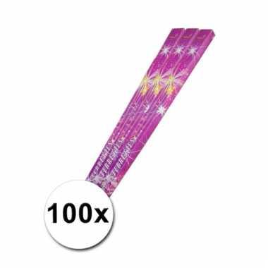 100 lange kinder sterretjes 45 cm
