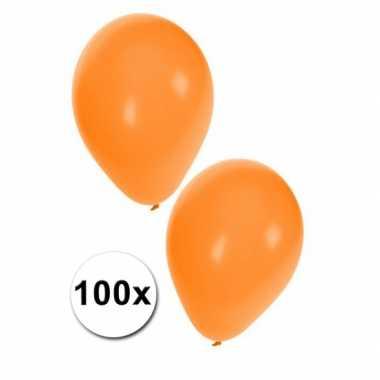 100 nederlandse oranje ballonnen