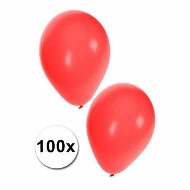 100 rode party ballonnen