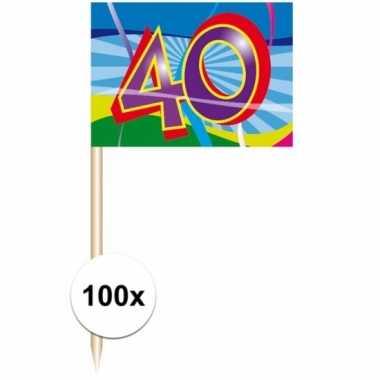 100 stuks feest prikkertjes 40 jaar