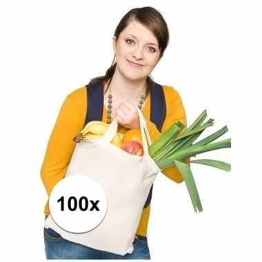 100 tassen 100% katoen korte hengsels